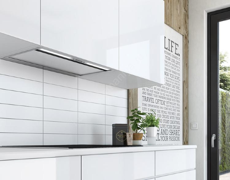Встроенная вытяжной шкаф на кухне фото